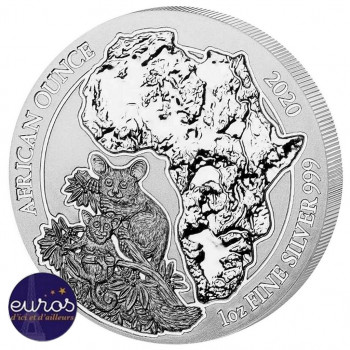 RWANDA 2020 - African Once, Bushbaby (Galago) - 1 Oz - Argent 999,99‰ - Bullion Coin