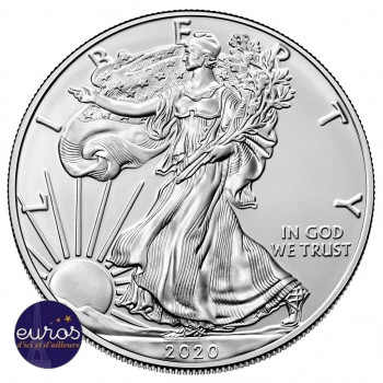 ETATS-UNIS 2020 - 1 $ US - American SILVER EAGLE - 1 Oz argent 999,99‰ - Bullion Coin