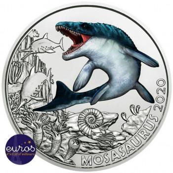 3 euros AUTRICHE 2020 - Mosasaurus - Série Dinosaures (2/12)