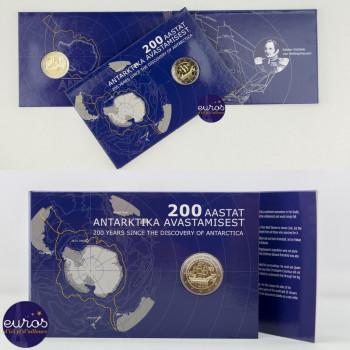 Coincard 2 euros commémorative ESTONIE 2020 - 200 ans de la Découverte de l'Antarctique - Brillant Universel