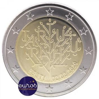 2 euros commémorative ESTONIE 2020 - 100 ans du Traité de Paix de Tartu - UNC