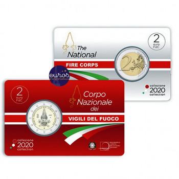 Coincard 2 euros commémorative ITALIE 2020 - Corps des Sapeurs Pompiers - BU