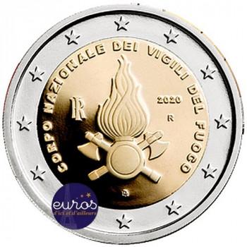 2 euros commémorative ITALIE 2020 - Corps des Sapeurs Pompiers - UNC