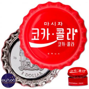 ILES FIDGI 2020 - 1$ - Coca-Cola® - Corée (Korea) - Argent (3)