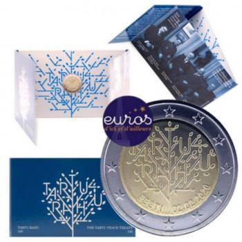 Coincard 2 euros commémorative ESTONIE 2020 - 100 ans du Traité de Paix de Tartu - Brillant Universel