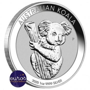 AUSTRALIE 2020 - 1$ AUD - KOALA - 1 oz argent 999,99‰ - Bullion Coin
