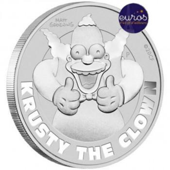 TUVALU 2020 - 1$ TVD - Les Simpsons™, Krusty le Clown™ - 1 oz argent 999‰
