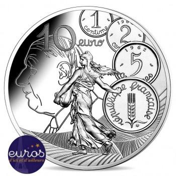 10 euros argent BE FRANCE 2020 - La Semeuse - Le Nouveau Franc