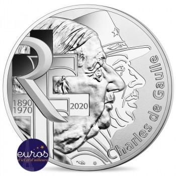 10 euros commémorative FRANCE 2020 - Charles de Gaulle  - Argent 333/1000 - UNC