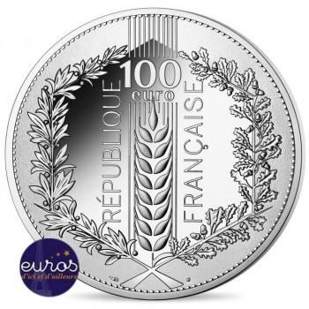 100 euros commémorative FRANCE 2020 - Chêne  - Argent 900‰