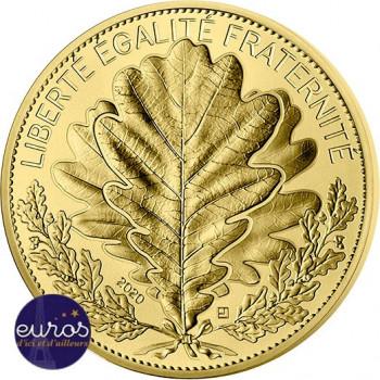 250 euros commémorative FRANCE 2020 - Chêne  - Or pur 999‰