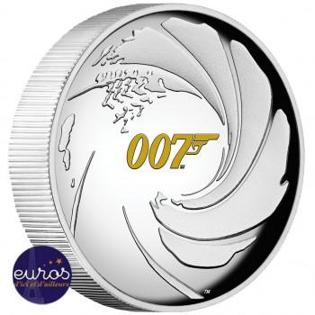 TUVALU 2020 - James Bond 007™ - Argent 999‰ - Haut Relief