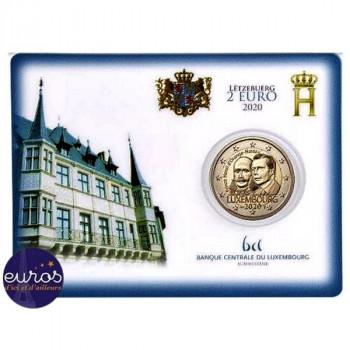 Coincard 2 euros BU Luxembourg 2020 - Bicentenaire Naissance Prince Henri - Mintmark Pont St Selve