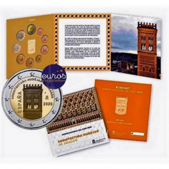 Set BU ESPAGNE 2020 - Série 1 cent à 2 euros + 2 euros commémorative Aragon
