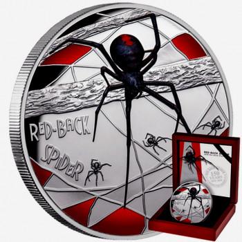 NIUE 2020 - 5oz argent - L'Araignée Rouge d'Australie (Australia's Red-Back Spider) - Belle Epreuve