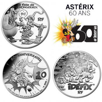 2 x 10 euros ASTERIX FRANCE 2019 - La Fille de Vercingétorix + Idéfix