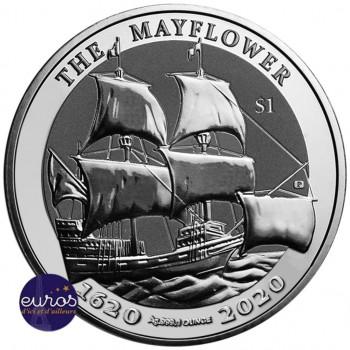 ILES VIERGES BRITANNIQUES 2020 - Le Mayflower - 1 oz argent 999,99‰