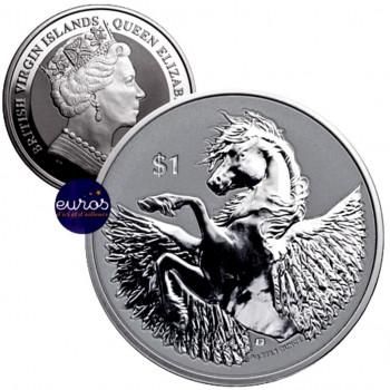 ILES VIERGES BRITANNIQUES 2020 - 1$ - Pégase - 1 oz argent 999,99‰