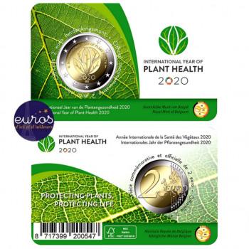 Coincard FL 2 euros BELGIQUE 2020 - Version Flamande - Année Internationale Santé des Végétaux - BU