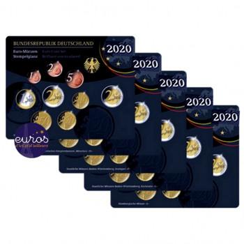 Sets BU 5,88€ ALLEMAGNE 2020 x 5 ateliers ADFGJ inclus 2€ commémoratives