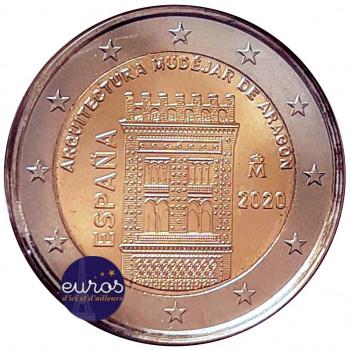 2 euros commémorative ESPAGNE 2020 - Architecture Mudéjar d'Aragón - UNC