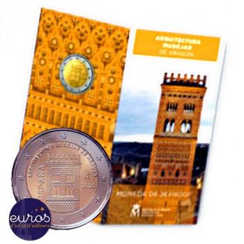 2 euros commémorative ESPAGNE 2020 - Architecture Mudéjar d'Aragón - UNESCO - Belle Epreuve
