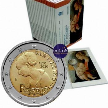 2 euros commémorative SAINT MARIN 2020 - 500ème anniversaire de la disparition de Raffaello - BU