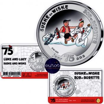 Coincard 5 euros BELGIQUE 2020 - Bob et Bobette - Version colorisée - BU