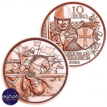 10 euros commémorative AUTRICHE 2020 - Chevalerie : Courage - Cuivre