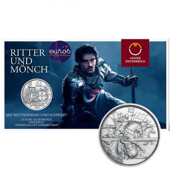 10 euros commémorative AUTRICHE 2020 - Chevalerie : Courage - Argent BU 925‰