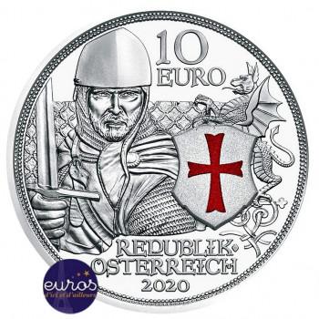 10 euros commémorative AUTRICHE 2020 - Chevalerie : Courage - Argent - Belle Epreuve
