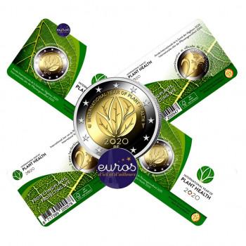 Coincard 2 euros BELGIQUE 2020 - Année Internationale de la Santé des Végétaux - BU