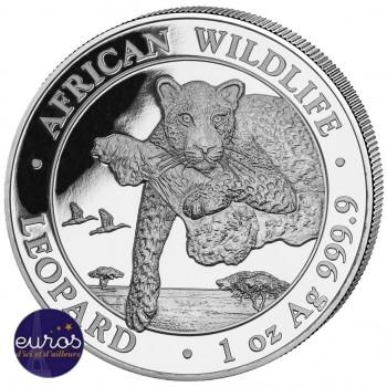 SOMALIE 2020 - 100 Shillings - 1 oz argent - Leopard, la Faune Africaine