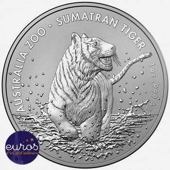 AUSTRALIE 2020 - 1$ AUD - Le Tigre de Sumatra - 1 oz argent 999,99‰