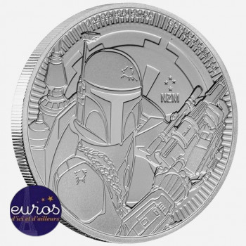 NIUE 2020 - 2$ NZD BOBA FETT™ - 1oz argent - Star Wars™ - Bullion Coin