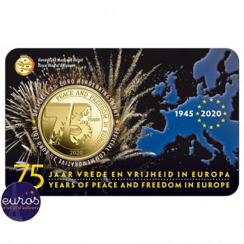 Coincard FL 2,5 euros BELGIQUE 2020 - 75 ans de Paix et de Liberté en Europe - BU