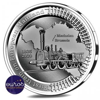 5 euros BELGIQUE 2020 - 185 ans du Premier Train sur le Continent Européen - Ag 925‰ - Belle Epreuve
