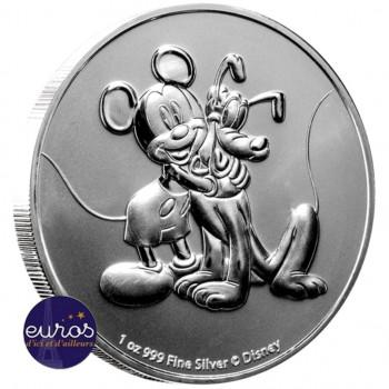 NIUE 2020 - 2$ NZD Mickey et Pluto™ - 1oz argent - Disney™