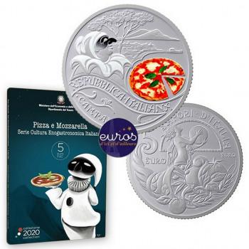 5 euros commémorative ITALIE 2020 - Gastronomie Italienne - Pizza et Mozzarella