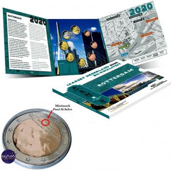 Set BU PAYS-BAS 2020 - Rotterdam - Série 8 pièces 1 cent à 2 euros 2020 - Brillant Universel
