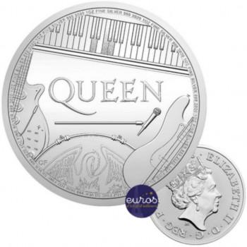 GRANDE-BRETAGNE 2020 - 2£ Queen - Légendes Musicales - 1oz Argent 999,99‰ - Bullion