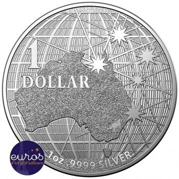 AUSTRALIE 2020 - 1$ AUD - Sous le Ciel Austral,  - 1 oz argent 999,99‰
