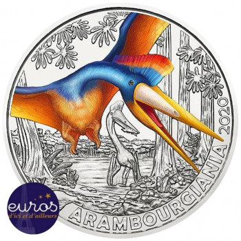3 euros AUTRICHE 2020 - Arambourgiania - Série Dinosaures (3/12)