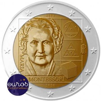 2 euros commémorative ITALIE 2020 - Maria Montessori - UNC