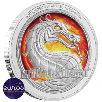 NIUE 2020 - 2$ NZD MORTAL KOMBAT™ - 1oz (once) argent - Belle Epreuve