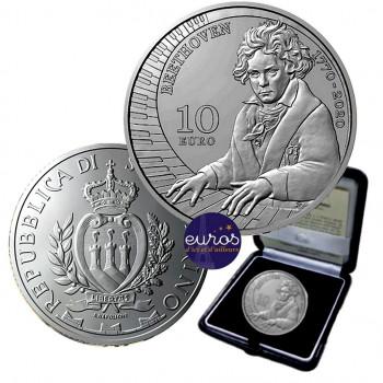 10 euros SAINT MARIN 2020 - Ludwig Van Beethoven - Argent Belle Epreuve