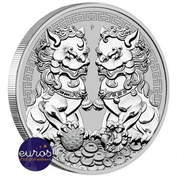 AUSTRALIE 2020 - 1$ AUD - Double Pixiu - Lions Gardiens - 1 oz argent 999,99‰ - Bullion