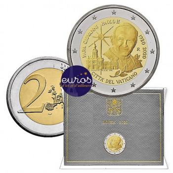 2 euros commémorative VATICAN 2020 - Jean-Paul II - Brillant Universel