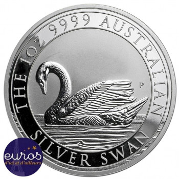 AUSTRALIE 2017 - 1$ AUD - Le Cygne - 1oz (once) argent - Bullion