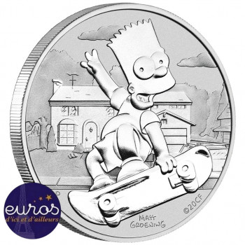 TUVALU 2020 - Les Simpsons™, Bart - 1 oz argent 999‰